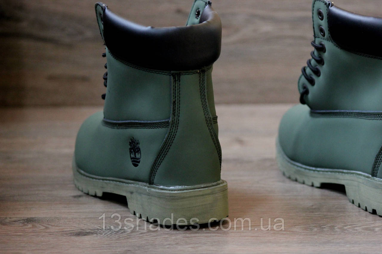 Ботинки мужские зимние Timberland зелёный ( без меха) (Тимберленд ... 456aa3886b245