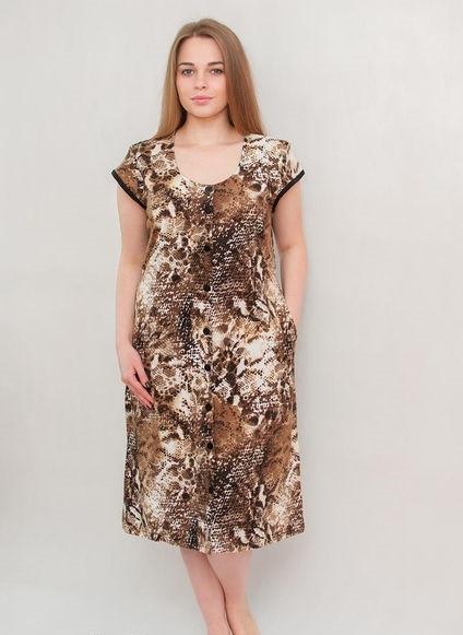 Жіночий халат річний середнього розміру плямистий