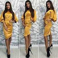 Платье женское нарядное,  ткань Атлас-котон цвет золотой ,фото реал ля № комплимент