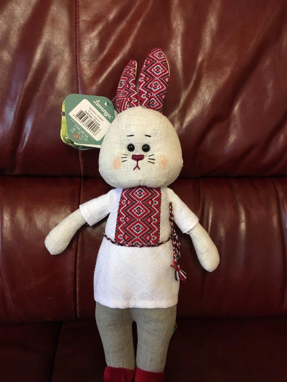 іграшка зайчик з льону