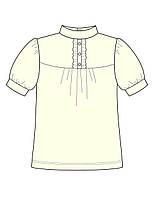 Блуза для девочки:цвет -Кремовый,размер-116 см,6 лет
