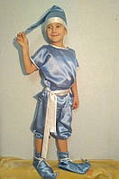 Яркий детский новогодний костюм для мальчика Гномика (атлас) (5-8 лет), фото 1