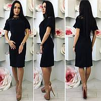 Платье женское облегающее Ткань Креп Дайвинг Электрик, красный,черный, фото реал ля № рафаэло