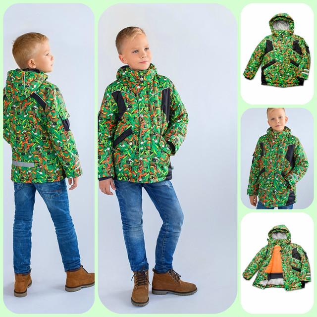 Зимняя куртка зелёного цвета