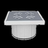 Надставка с решёткой из нержавеющей стали, 150х150 мм STY-505