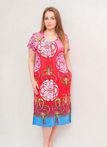 Женский летний халат среднего размера больной узор
