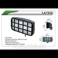 Фары дополнительные DLAA 7050 W/H3-12V-55W/196*82mm/решетка