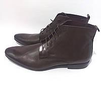 Кожаные мужские ботинки МEXX коричневые