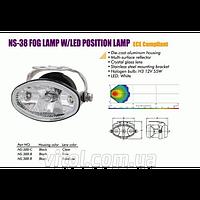 Фары дополнительные NS-38 F-B-C H3/12V/55W+LED 2x1W/White