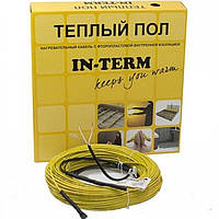 Теплый пол In-term двужильный греющий кабель 350 Вт 2 м кв