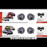 Фары дополнительные модель Nissan Tiida, 2009+, Арабка, X-Trail 2008+, эл.проводка (NS-373-W)