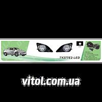 Фары дополнительные модель Toyota Corolla 2008-10/TY-277E2-LED-W/эл.проводка