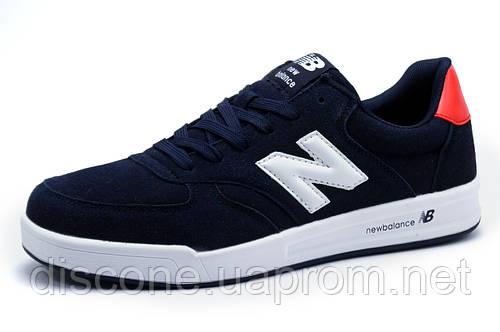 Кроссовки New Balance мужские, замша, темно-синие