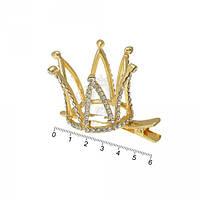Корона  на уточке золотисая 6 см