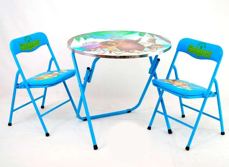 Столик с двумя стульчиками 466-221 голубой, в коробке
