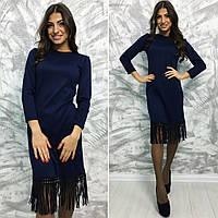 Платье с бахрамой / французский трикотаж / Украина, фото 1