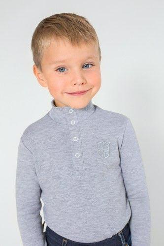 Гольфик для мальчика серого цвета