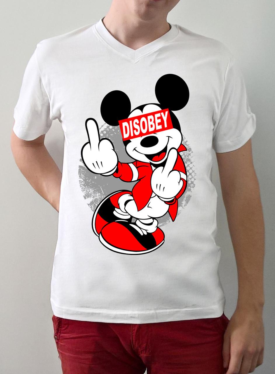 """Мужская футболка """"Disobey"""""""