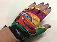 Перчатки для фитнеса, велоперчатки CAR детские Power Play без пальцев  р.  XS, S