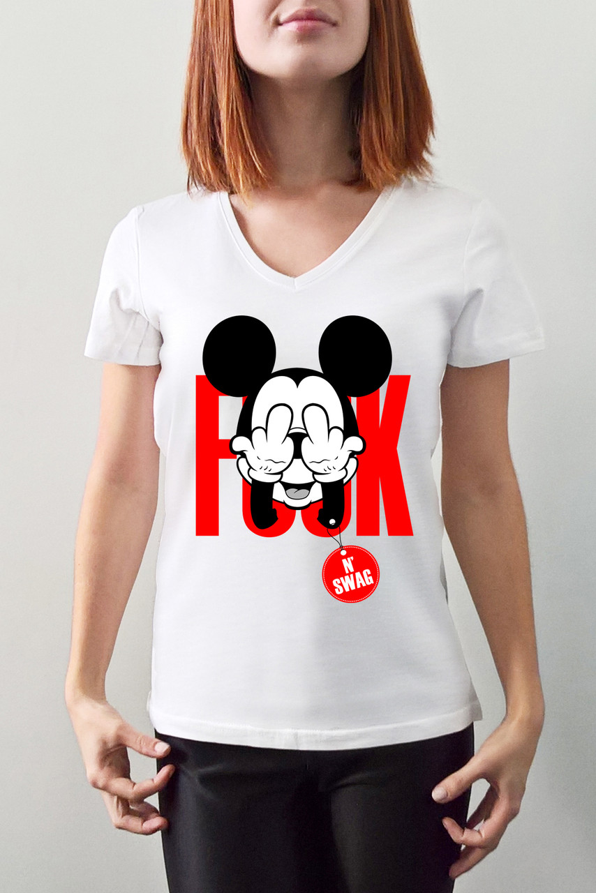 "Женская футболка ""Fuck swag"""