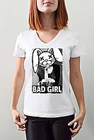 "Женская футболка ""Bad girl"""