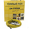 Теплый пол In-therm двужильный греющий кабель 1300 Вт 7,7 м кв