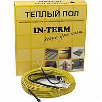 Теплый пол In-therm двужильный греющий кабель 1300 Вт 7,7 м кв, фото 1