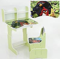 """Парта растишка школьная """"Angry Birds 3 героя"""" 023"""