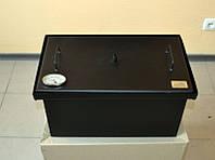 Коптильня двух-ярусная для рыбы, мяса, птицы, сала и фруктов с термометром (520х300х280)