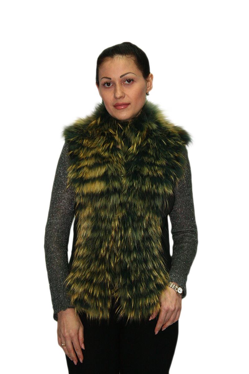 Жилет женский Oscar Fur 337 Зеленый