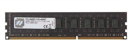 Оперативная память для компьютера 4Gb DDR3, 1600 MHz (PC3-12800), G.Skill, 11-11-11-28, 1.5V (F3-1600C11S-4GNT), фото 2