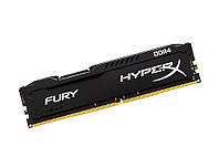 Память 4Gb DDR4, 2133 MHz, Kingston HyperX Fury Black, 14-14-14, 1.2V, с радиатором (HX421C14FB/4)