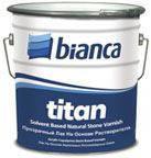 Лак для натурального камня, дерева Bianca Titan (0,75 л)