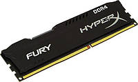 Память 4Gb DDR4, 2400 MHz, Kingston HyperX Fury Black, 15-15-15, 1.2V, с радиатором (HX424C15FB/4)