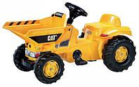 Трактор педальный мини с ковшом Kid Dumper CAT Rolly Toys  желтый