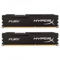 Оперативная память для компьютера 4Gb x 2 (8Gb Kit) DDR3, 1600 MHz (PC3-12800), Kingston HyperX Fury Black, 10-10-10-28, 1.5V, с радиатором