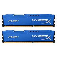 Память 4Gb x 2 (8Gb Kit) DDR3, 1600 MHz (PC3-12800), Kingston HyperX Fury Blue, 10-10-10-28, 1.5V, с радиатором (HX316C10FK2/8)