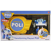 Робокар поли с кейсом гаражом Robocar Poli Silverlit 83072