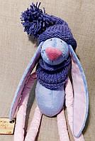 Вязаный комплект ручной работы фиолетовый
