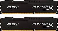Память 4Gb x 2 (8Gb Kit) DDR3, 1866 MHz (PC3-15000), Kingston HyperX Fury Black, 10-11-10-28, 1.5V, с радиатором (HX318C10FBK2/8)