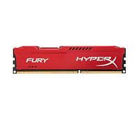Память 8Gb DDR3, 1866 MHz (PC3-14900), Kingston HyperX Fury Red, 10-11-10-28, 1.5V, с радиатором (HX318C10FR/8)