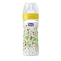 Бутылочка пластиковая Chicco Well-Being с силикованой соской 2м+ 250 мл Зеленая (20623.30.50)