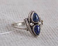 Серебряное кольцо с лазуритом 18 размера. Серебряные кольца