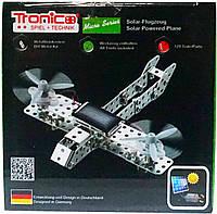 Конструктор металлический Самолет на солнечной батарее (129 дет.), Tronico (9605-2)