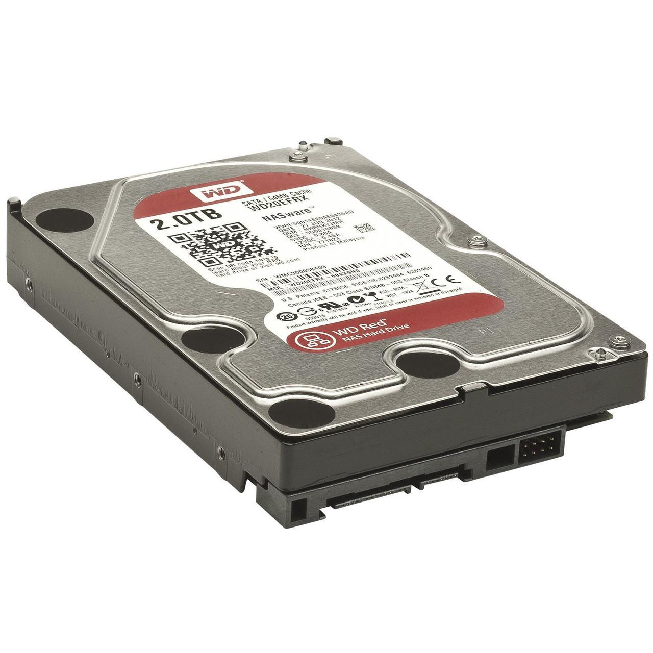 Жесткий диск для компьютера 2 Тб Western Digital Red, SATA 3, 64Mb, 54