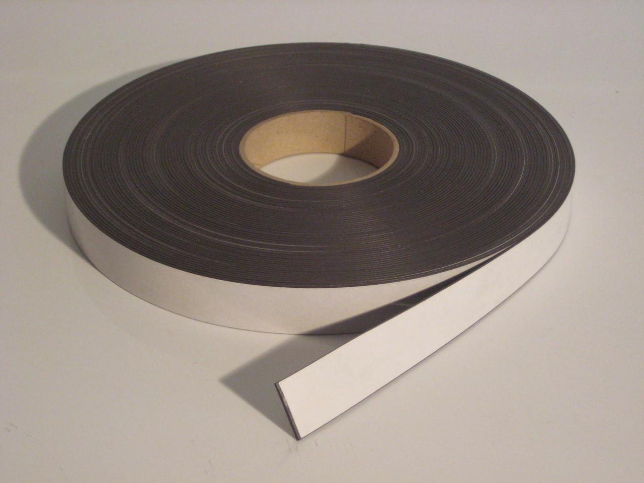Магнітна стрічка 25,4 мм х 30,5 м з клейовим шаром тип А