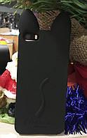 Силиконовый чехол Ушки Кошки CoCo Cat iPhone SE/5S/5, черный