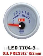 Тюнинговый автомобильный прибор Ket Gauge LED 7704-3 давление масла