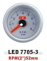 Тюнинговый автомобильный прибор Ket Gauge LED 7705-3 B тахометр синяя подсветка