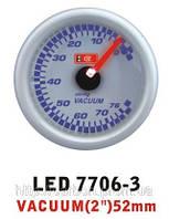 Тюнинговый автомобильный прибор Ket Gauge LED 7706-3 вакуум